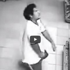 Opętany mężczyzna w sklepie ?  Zobaczcie przerażające nagranie!