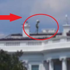 Na dachu Białego Domu nagrano kosmitę? Nagranie obcego zszokowało wielu internautów?